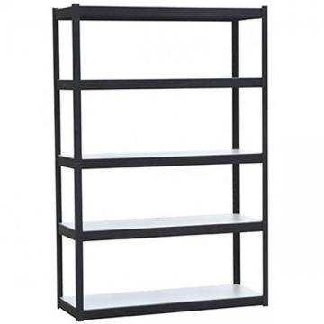 Bookshelf Slim Plant Display Rack Wood Look Metal Frame 5 Tier