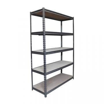 "Black Office Storage Display Rack Freestanding Organizer Metal Shelving 36""W X 14""D"