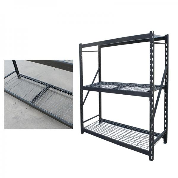 Workstation industrial metal shelving heavy duty welded storage rack with coated-wire decking #3 image