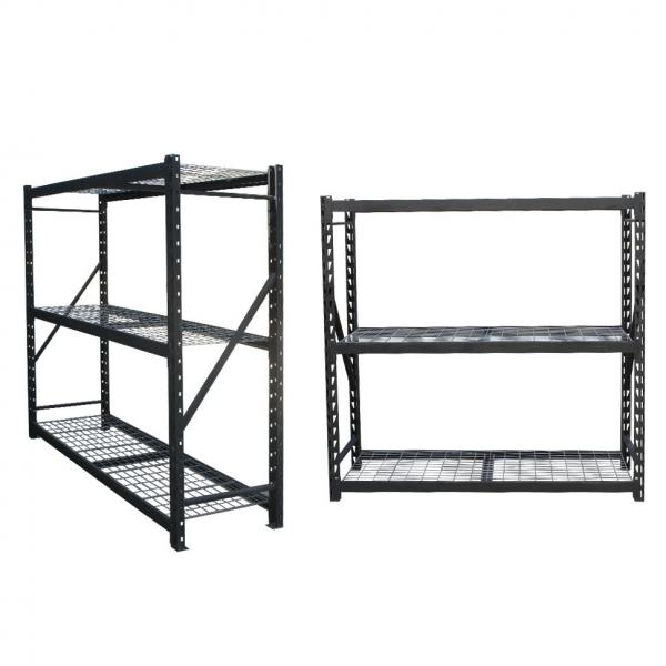 Workstation industrial metal shelving heavy duty welded storage rack with coated-wire decking #1 image