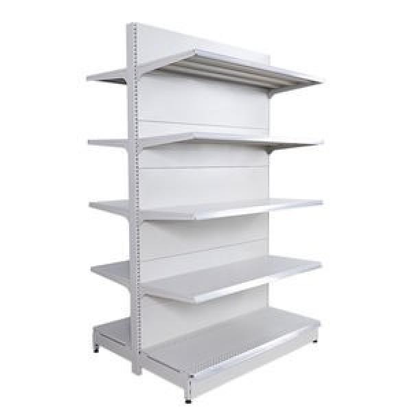 supermarket store metal steel double sided Grocer gondolay shop shelving Display shelving #3 image