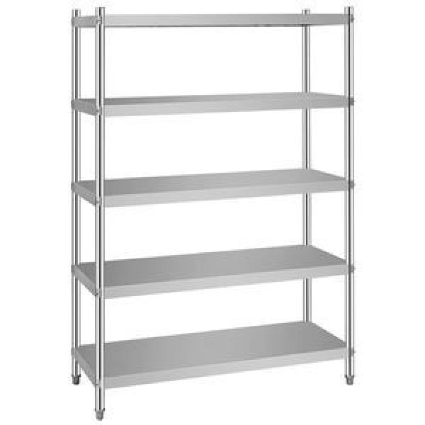Adjustable bedroom storage shelving unit 3-tier stainless steel wire shelving 3 tiers light duty shelving rack #2 image