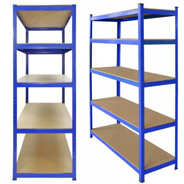 Anti-Rust Adjustable 5 Shelf Shelving Unit Steel Display Rack #3 image