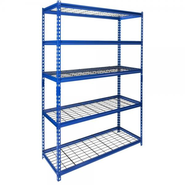 Workstation industrial metal shelving heavy duty welded storage rack with coated-wire decking #2 image