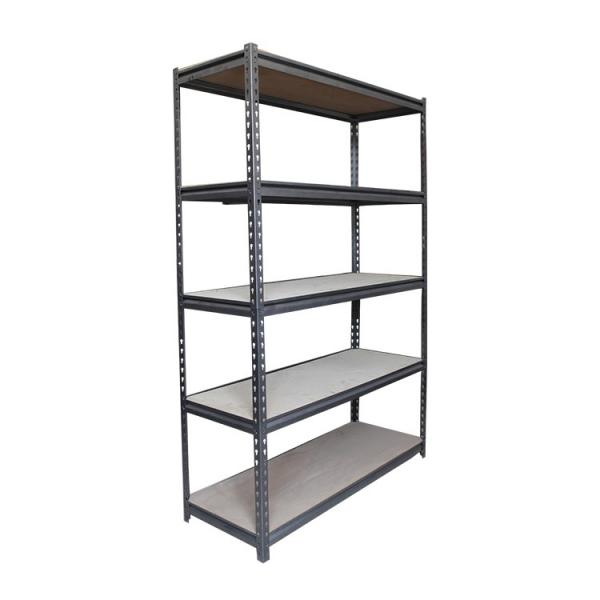"Black Office Storage Display Rack Freestanding Organizer Metal Shelving 36""W X 14""D #3 image"